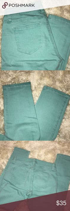 • CAbi • Turquoise Skinny Jeans Turquoise skinny jeans from CAbi CAbi Jeans Skinny