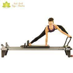 the spider pilates reformer exercise 3 - Pilates Workout Pilates Workout, Pilates Body, Pilates Reformer Exercises, Pilates Barre, Hip Workout, Pilates Chair, Pilates Routines, Workouts, Joseph Pilates