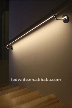 Clever use of the LED strip to light the stairs