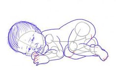 How to Draw a Newborn Baby, Step by Step, Figures, People, FREE ...