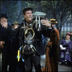 Dick Van Dyke's one man band outfit from Mary Poppins Mary Poppins Movie, Mary Poppins And Bert, Mary Poppins 1964, Walt Disney, Disney Love, Disney Films, Disney Characters, My Fair Lady, Best Actress