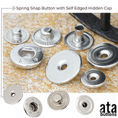 In addition to the spring snap buttons with hidden cap that we are currently producing, we have started the production of self-edged hidden cap spring snap button models.