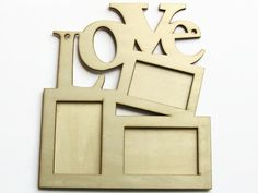 DIY Love Picture Frame - Wooden Photo Frame - Eco-Friendly Wood - Plywood Frame - Ready to Paint - Wooden Supplies - Home Decor Craft - OC65 by ButtonEnvyUk on Etsy