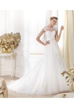 Robe de mariée 2014 tulle dentelle avec ceinture