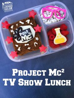 Create bento box lunches for Project Mc2 birthday party guests. Take a look at how Lunch Box Dad created this #Amazeblogs lunch!