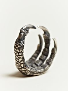 "Ann Demeulemeester Men's Silver Claw Ring....Halo. ""The angel came, the angel saw, the angel fell."""