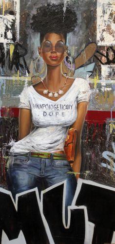 Frank Morrison - 42 Artworks, Bio & Shows on Artsy Sexy Black Art, Black Love Art, Black Girl Art, Black Is Beautiful, Black Girls, Black Women, Natural Hair Art, Pelo Natural, Frank Morrison Art