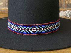 Native American Beaded Hat Band In The Eye Of A by LJGreywolf