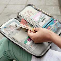 Barato Creative Multi função organização de viagem grande capacidade de armazenamento de cartão bancário conveniente para passaporte documento organizador, Compro Qualidade Bolsas de armazenamento diretamente de fornecedores da China:     Introdução de produto:            Cor do produto: verde, azul, azul marinho, rosa vermelha, rosa, vinho tinto
