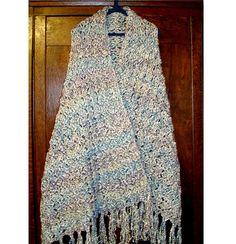✓ Soft & Comfy Prayer Shawl crochet pattern uses Homespun yarn