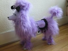 Life size Poodle made from faux fur