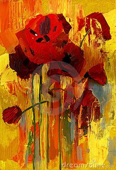 Oil Painting Poppy - Download From Over 38 Million High Quality Stock Photos, Images, Vectors. Sign up for FREE today. Image: 7915653