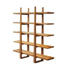 Bamboo Shelf with Tiger Inlay. Made with smooth bamboo and featuring numerous berths for storage.