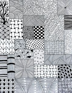 Check Out These Zentangle Fill Patterns for Your Next Tangle Work. Think Bigger or Smaller, Considering Your Next Work of Art! Dibujos Zentangle Art, Zentangle Drawings, Doodles Zentangles, Doodle Drawings, Doodle Designs, Doodle Patterns, Zentangle Patterns, Tangle Doodle, Zen Doodle