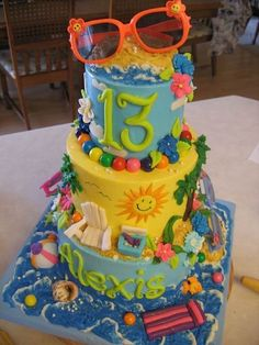 fabulous beachy cake via Cake Wrecks - Home - Sunday Sweets: Summer Top 10 List