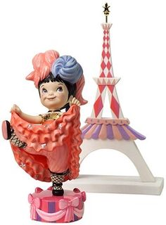 """It's a Small World, France - Can-Can Girl & Eiffel Tower - """"Joie de Vivre"""" (Joy of Life) Retired Edition 10/09$99"""