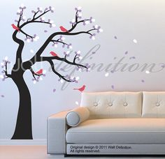 Vinyl Tree Sticker Tree Wall Decals  Tree Decal by WallDefinition, $88.00