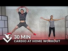 30 Minute Cardio at Home Workout without Equipment - 30 Min HIIT Bodyweight Cardio No Equipment - YouTube