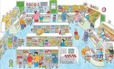 Build a Town Puzzle A puzzle with endless discoveries awaiting throughout town – from the zoo to the fire station to the school. Bustling town scene with lots to spot Fun discoveries for all ages Teaching Spanish, Teaching English, Exam Pictures, Picture Writing Prompts, Learning Toys, English Lessons, Toddler Preschool, Drawing For Kids, Speech And Language