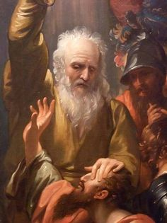 """So Ananias went and entered the house; laying his hands on him, he said, """"Saul, my brother, the Lord has sent me, Jesus who appeared to you on the way by which you came, that you may regain your sight and be filled with the holy Spirit."""" Immediately things like scales fell from his eyes and he regained his sight. He got up and was baptized Acts 9:17-18"""
