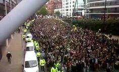 Corteo ultras BVB in Manchester 3 Ottobre 2012