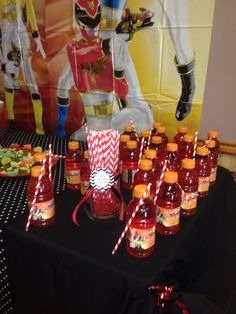 Power Ranger Birthday Party drinks