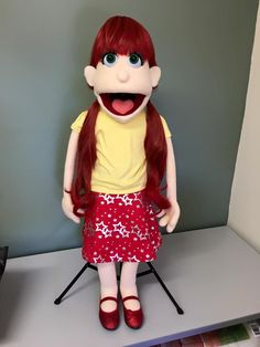 This puppet can be built to your requirements. Change of hair and eye colour avail. Full and Half body Professional Rod puppet
