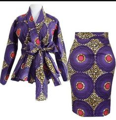 African women clothing/ African peplum blouse and skirt /African fit and flare balls/African peplum jacket and skirt. African Fashion Designers, African Inspired Fashion, Latest African Fashion Dresses, African Dresses For Women, African Print Fashion, Africa Fashion, African Attire, African Wear, African Fashion Ankara
