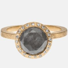 I really like the contrast between the darker grey diamond and the rose gold setting. Todd Reed | Raw Elegance