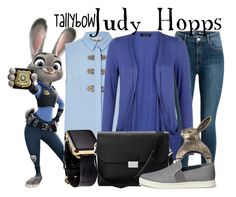 """Judy Hopps"" by tallybow ❤ liked on Polyvore featuring River Island, Hadoro, Aspinal of London and Vince"
