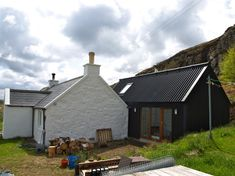 Small Projects - Rural Design Architects - Isle of Skye and the Highlands and Islands of Scotland Timber Buildings, Small Buildings, Cottage Extension, Modern Prefab Homes, Long House, Rural House, Irish Cottage, Cottage Renovation, House Extensions