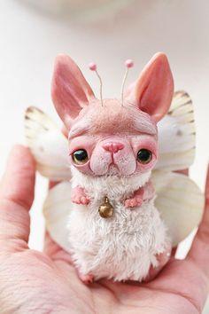 owlet by da-bu-di-bu-da on DeviantArt Joker Cartoon, Cute Fantasy Creatures, Polymer Clay Dolls, Paperclay, Creepy Cute, Cute Toys, Fairy Dolls, Soft Sculpture, Ooak Dolls