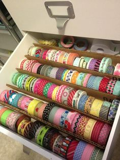 I wish I had this much washi tape!                                                                                                                                                     More