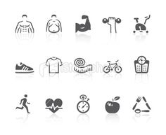 Fitness icons Royalty Free Stock Vector Art Illustration