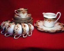 Stunning Victorian Salt & Nixon Imari Tea Set Newark Pattern - circa 1898
