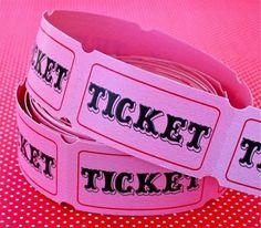 Un rouleau de tickets rétros