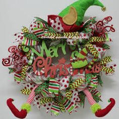 wreaths made with elf legs - Google Search