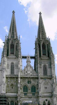 Dom St. Peter (Regensburg), Germany, die einzige Kathedrale französischen Schemas in Bayern, ab 1273.