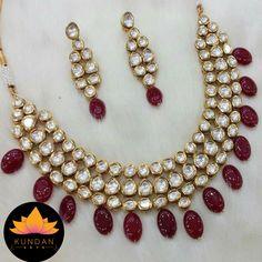 Red Kundan Necklace