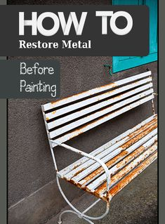 Ready to repaint your metal furniture but not sure how to begin? Make sure the metal is in as good a condition it can be before you repaint. Here are some tips for removing rust and other marks: Fo...