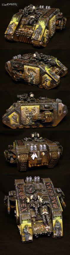 40k - Black Templars Land Raider by lordNicon