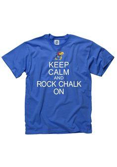 Kansas Jayhawks T-Shirt - Mens Blue Keep Calm T-Shirt http://www.rallyhouse.com/shop/kansas-jayhawks-new-agenda-kansas-jayhawks-tshirt-mens-blue-keep-calm-tshirt-22788148 $16.99