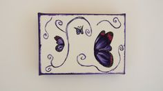 Shop for on Etsy, the place to express your creativity through the buying and selling of handmade and vintage goods. Small Canvas Art, Mini Canvas Art, Plum Room, Small Wall Decor, Butterfly Canvas, Wall Art, Creative, Room Decor, Handmade