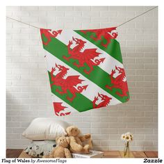Flag of Wales Pramblankets