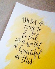 www.emilyecavanagh.com / calligraphy / modern calligraphy / watercolor