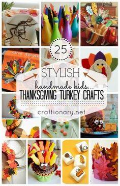 More Than Your Average Mom: Kids Thanksgiving Craft Roundup