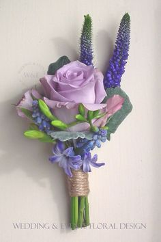 Image result for dusty lilac boutonniere