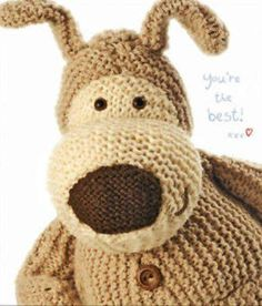 Boofle Knitting Pattern : Boofle Squishy Hug Happy Birthday Greeting Card Thumbnail 1 Boofle Pinter...