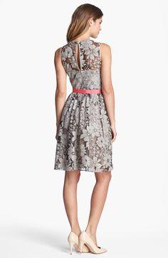 Eliza J Textured Lace Fit & Flare Dress | Nordstrom