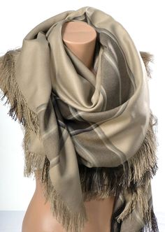 Winter OVERSIZE Scarf or Shawl or Neck Wrap. by scarfstore2012